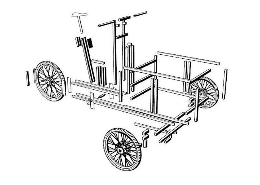 Exploded view diagram of an XYZ cycle