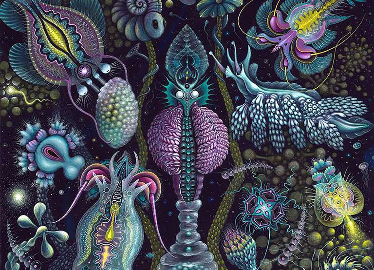 fantastical marine creature paintings Robert Steven Connett
