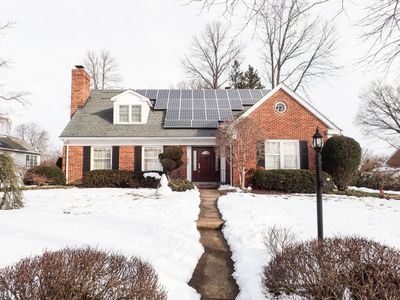 House with solar panels