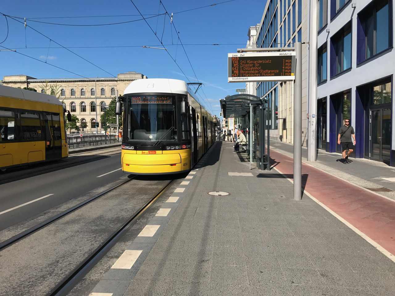 A streetcar in Berlin