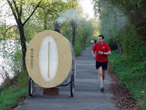 sauna on running path
