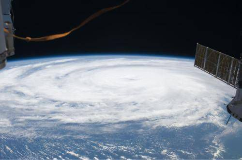 hurricane bill from space