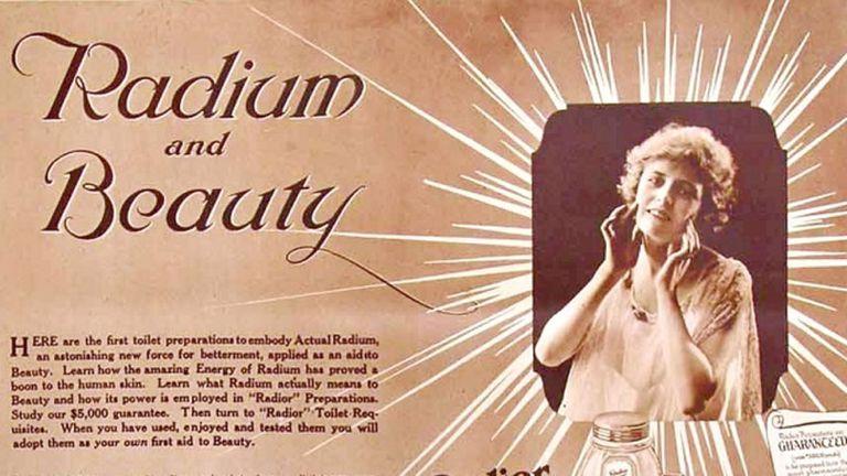 radioactive face cream 1918 advertisment