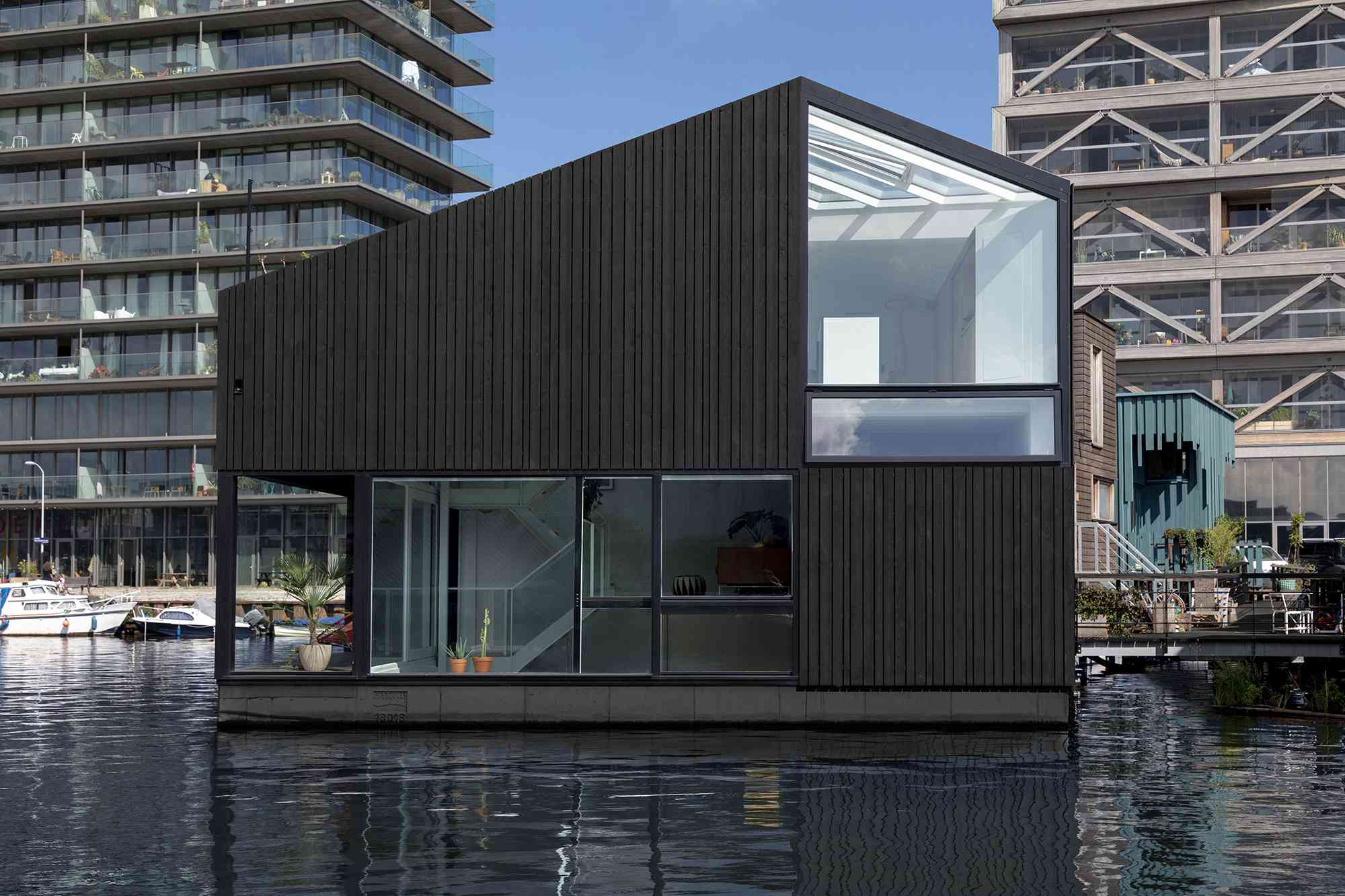 Exterior of floating home
