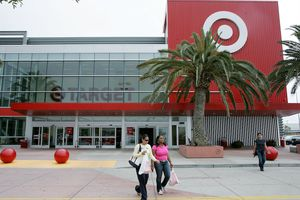 Customers carry bags as they leave a Target store May 15, 2006 in Albany, California.