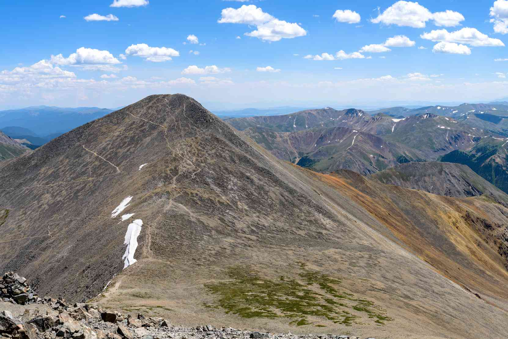 View of Grays Peak, highest point of the CDT