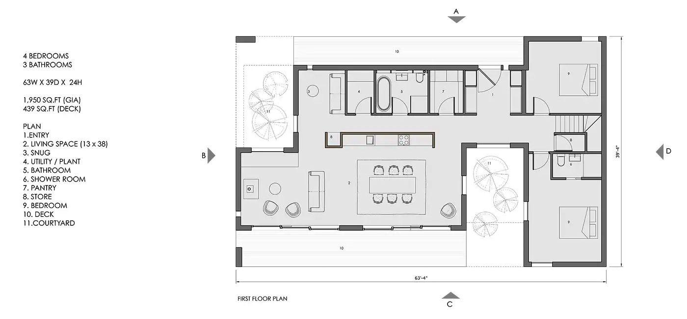 Koto 2 Plan showing 3 modules
