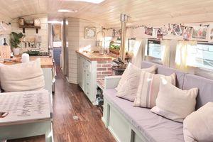 Savor It school bus conversion Savor It Skoolie interior