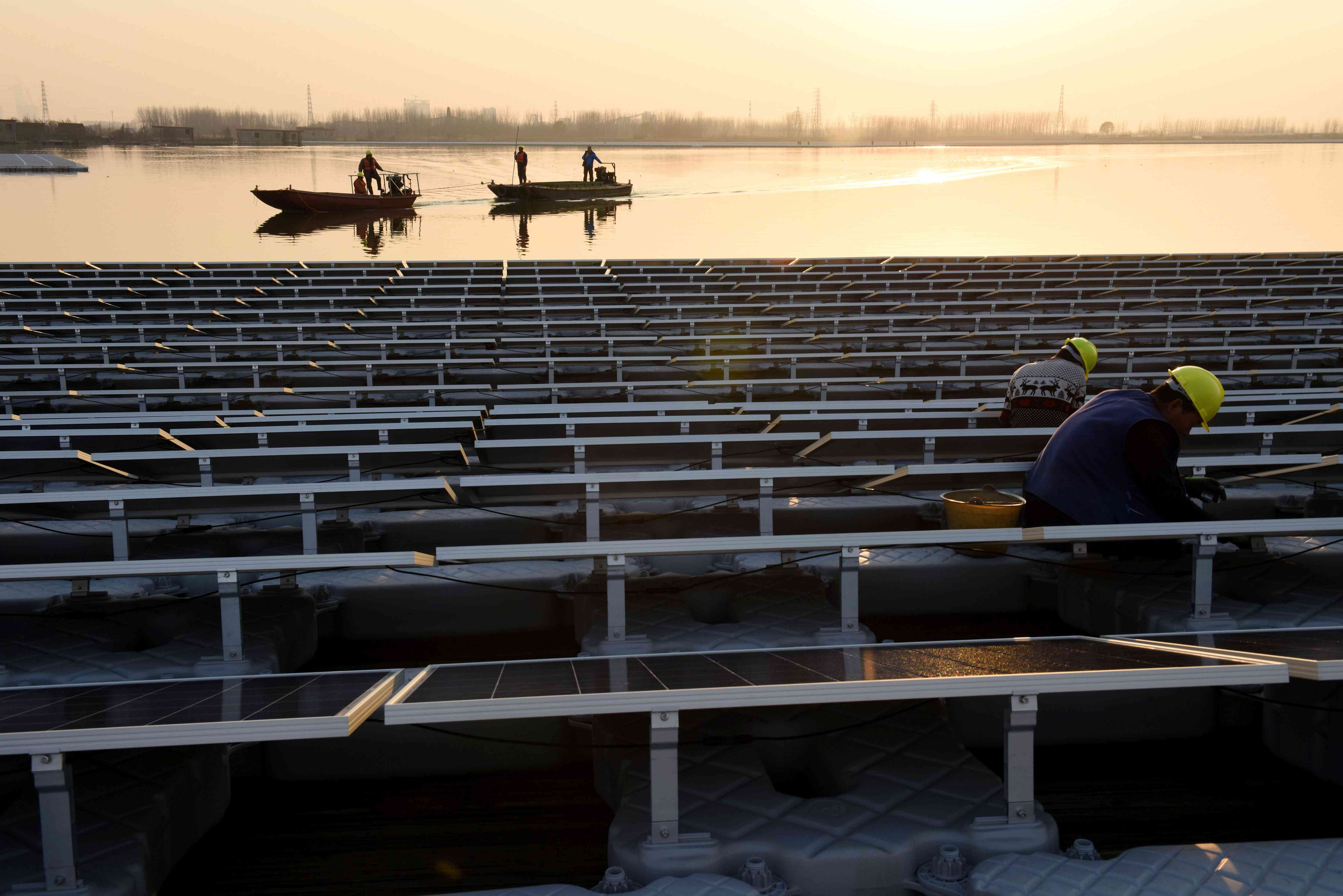 floating solar power project in Huainan, China