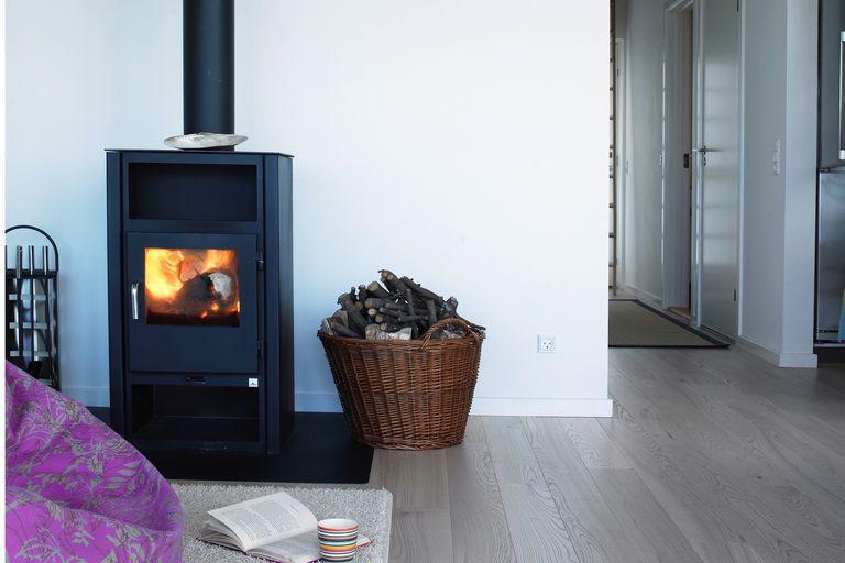 modern wood stove