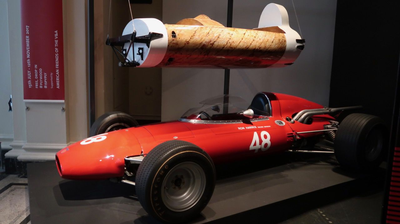 plywood racing car