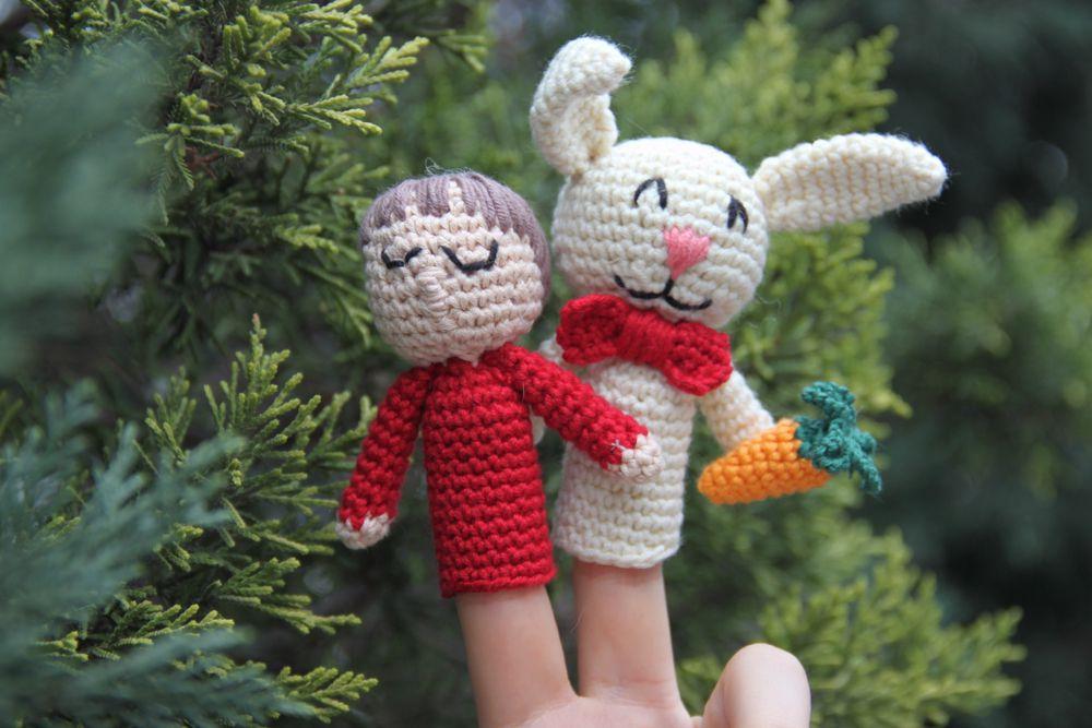 crochet finger puppets