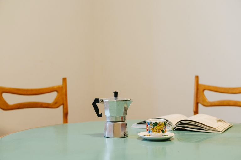 coffee pot on table