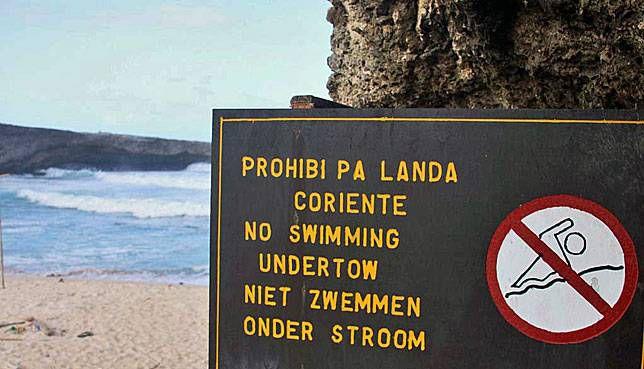 Beach sign in Aruba