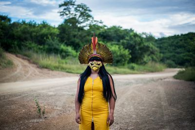 Women are part of the monitoring of the Xakriaba territory, Brazil, 2020