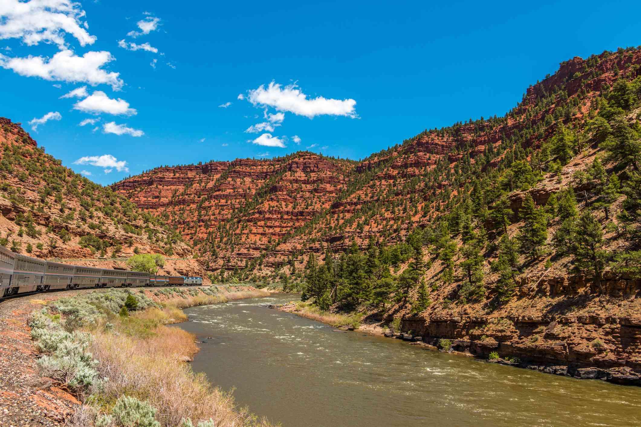 California Zepher traveling through the Colorado Rockies