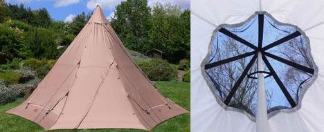 green outdoor hemp tent photo