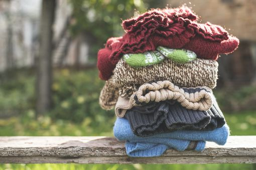 stack of woolens