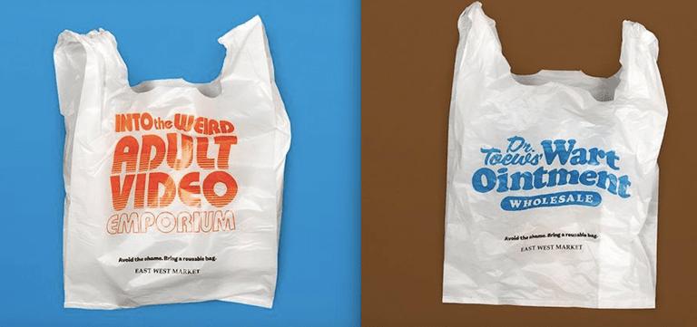 El tendero de Vancouver usa lemas vergonzosos para desalentar el uso de bolsas de plástico