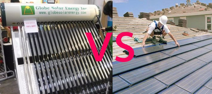 solar thermal vs photovoltaic