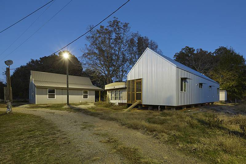Michele's House and Idella's House, the 15th and 16th iterations of Rural Studio's ongoing $20K House project.