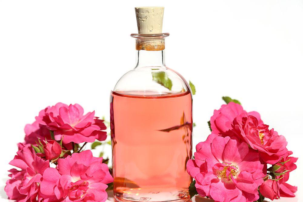 rose water bottle