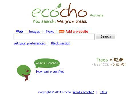 ecocho green search engine