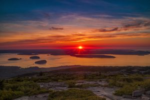 Sunrise from Cadillac Mountain in Acadia National Park