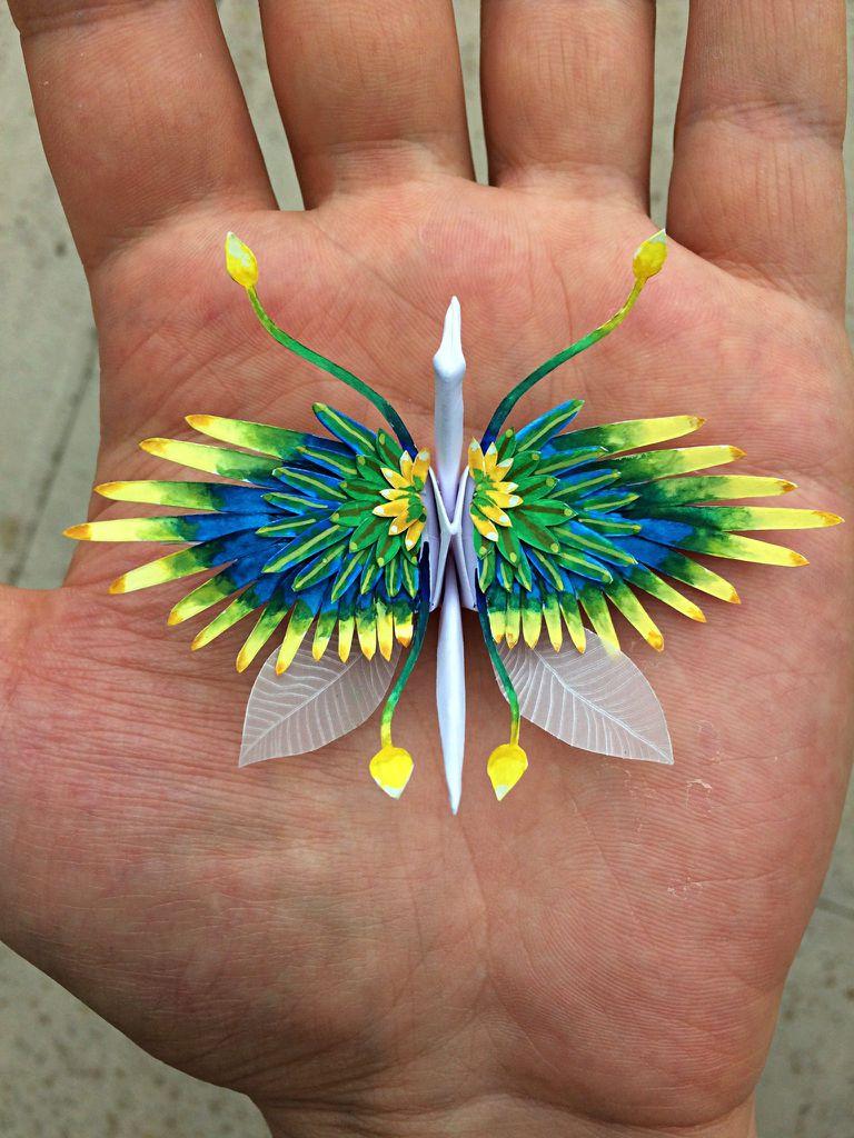 Artista de origami lleva las grullas a un nivel completamente nuevo