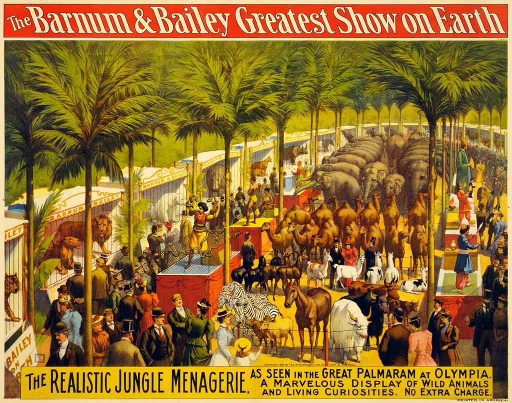 Barnum & Bailey vintage poster