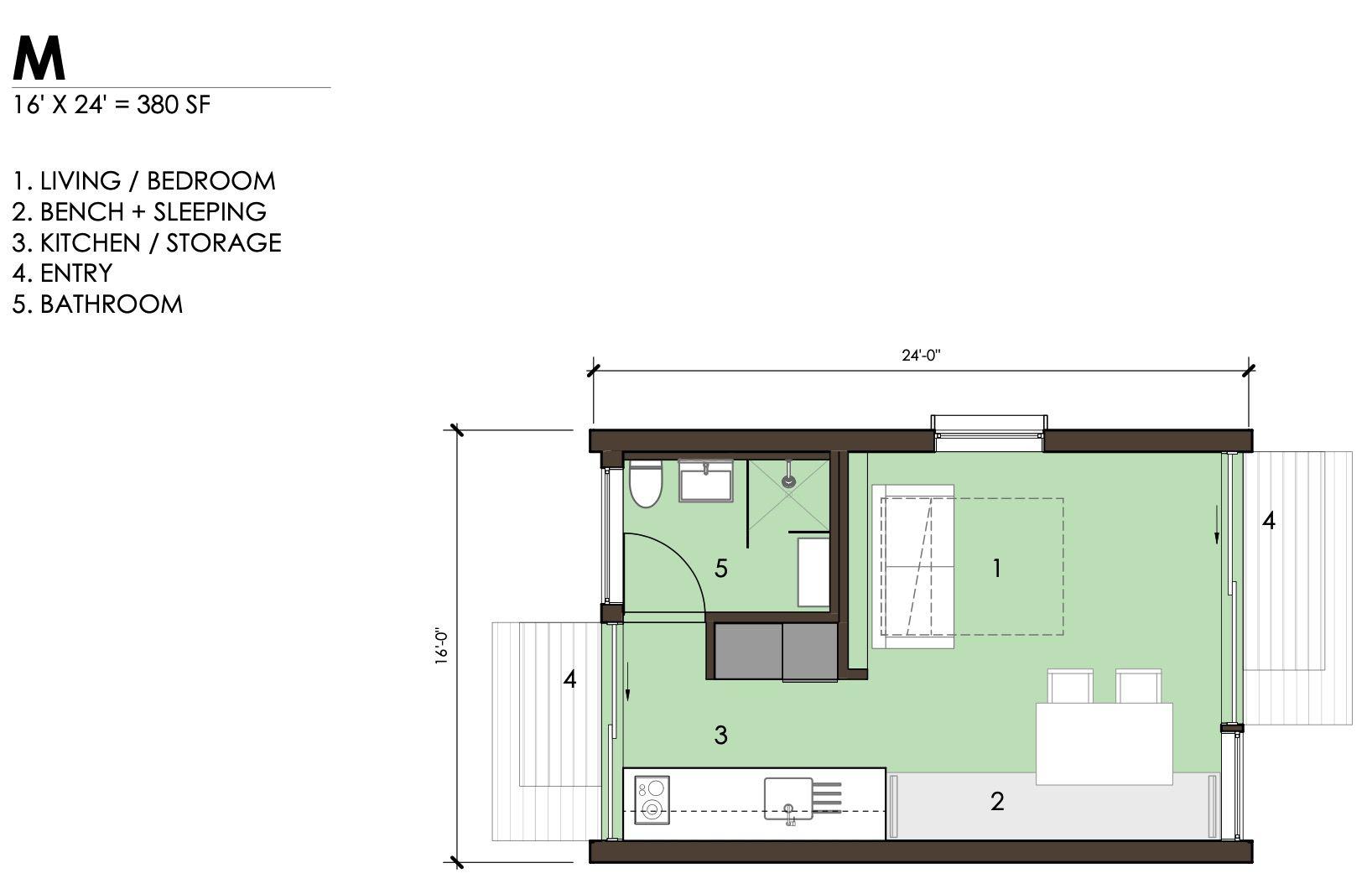 Unit M floor plan