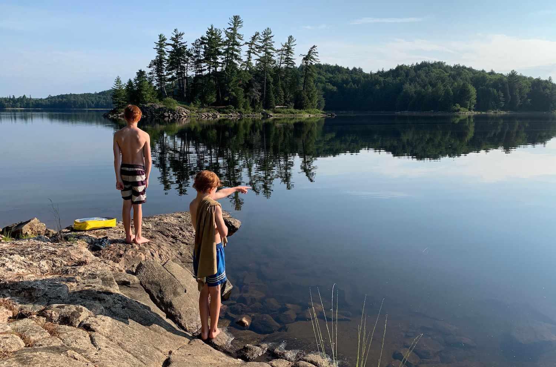 kids at Ragged Lake
