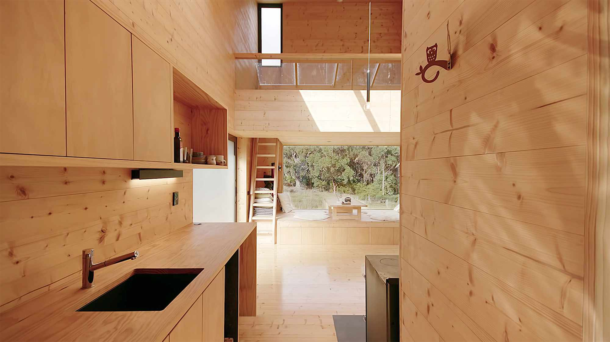 Bruny Island Hideaway by Maguire + Devin laundry counter