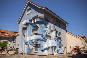 anamorphic murals by Peeta