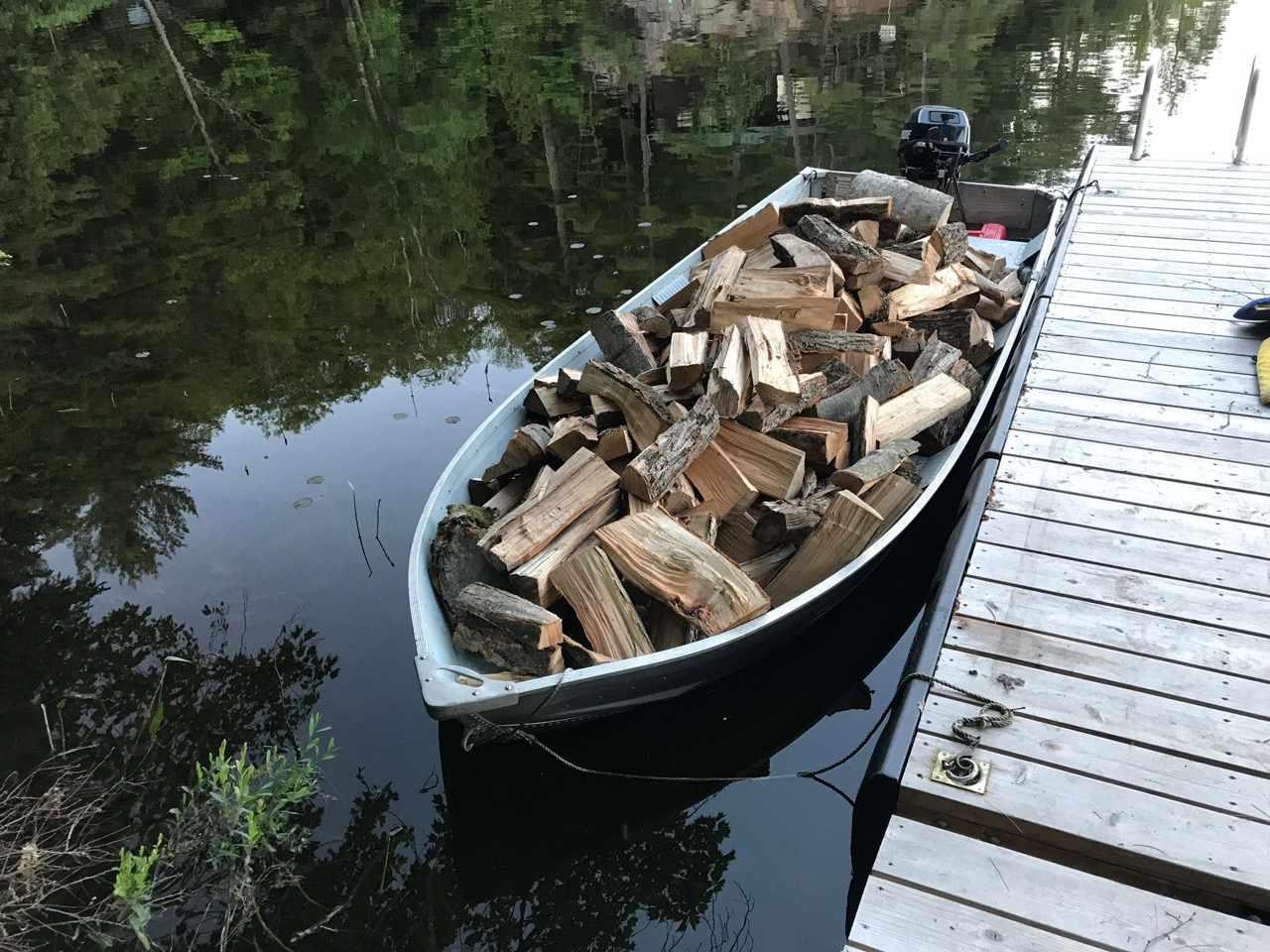 Lloyd Alter's boat full of firewood