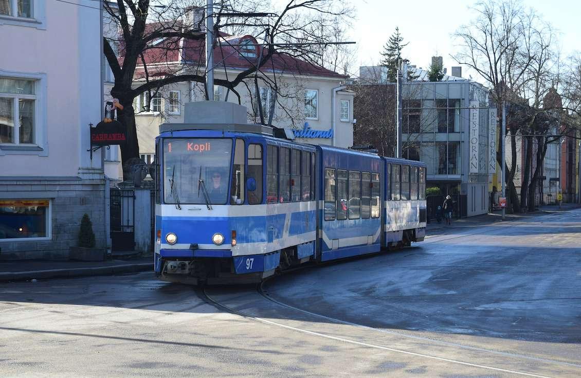 Tram in Tallinn, Estonia