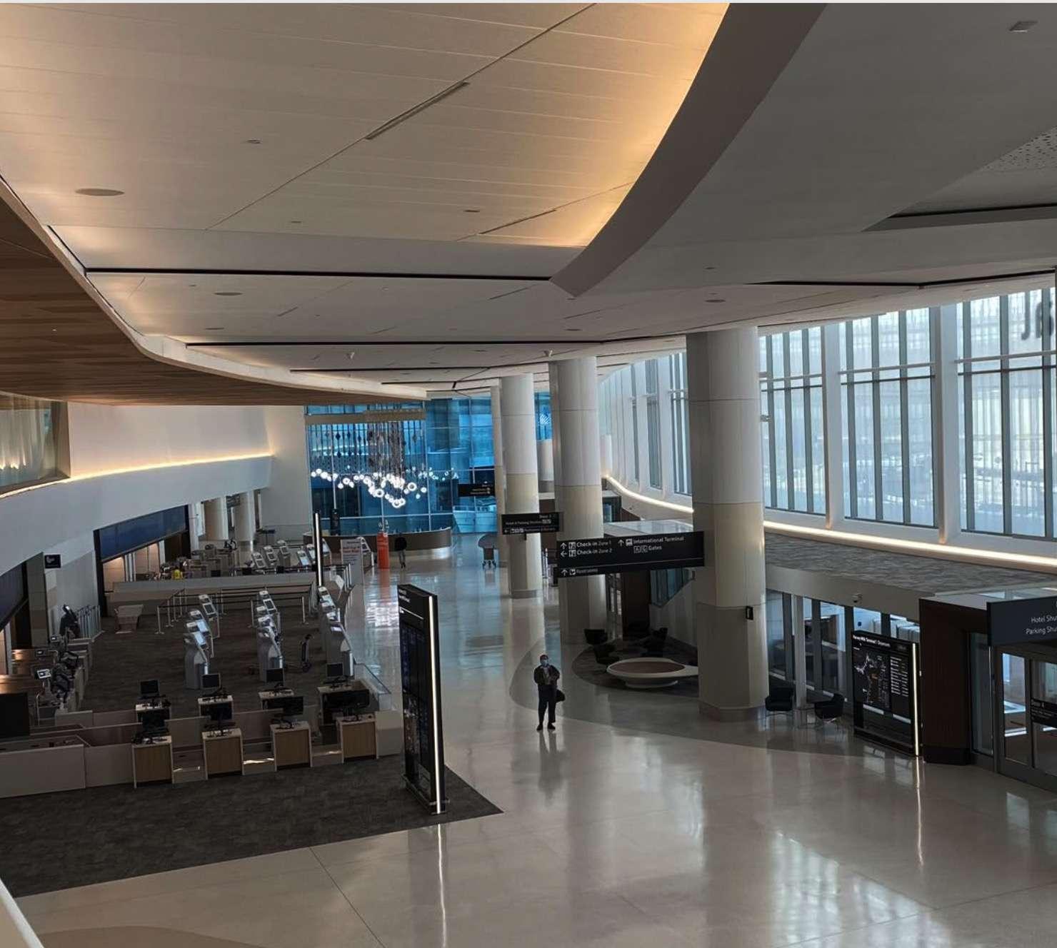 Interior of Harvey Milk Terminal