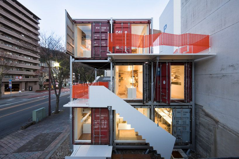 shipping container offices exterior