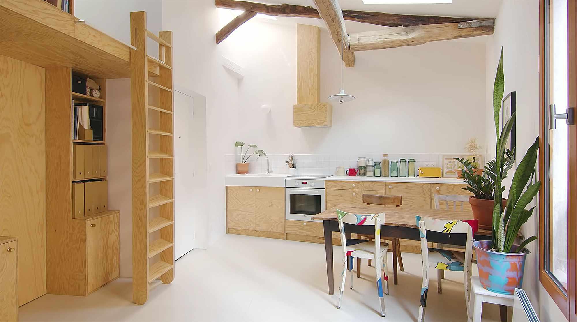 Jourdain micro-apartment renovation Matthieu Torres kitchen