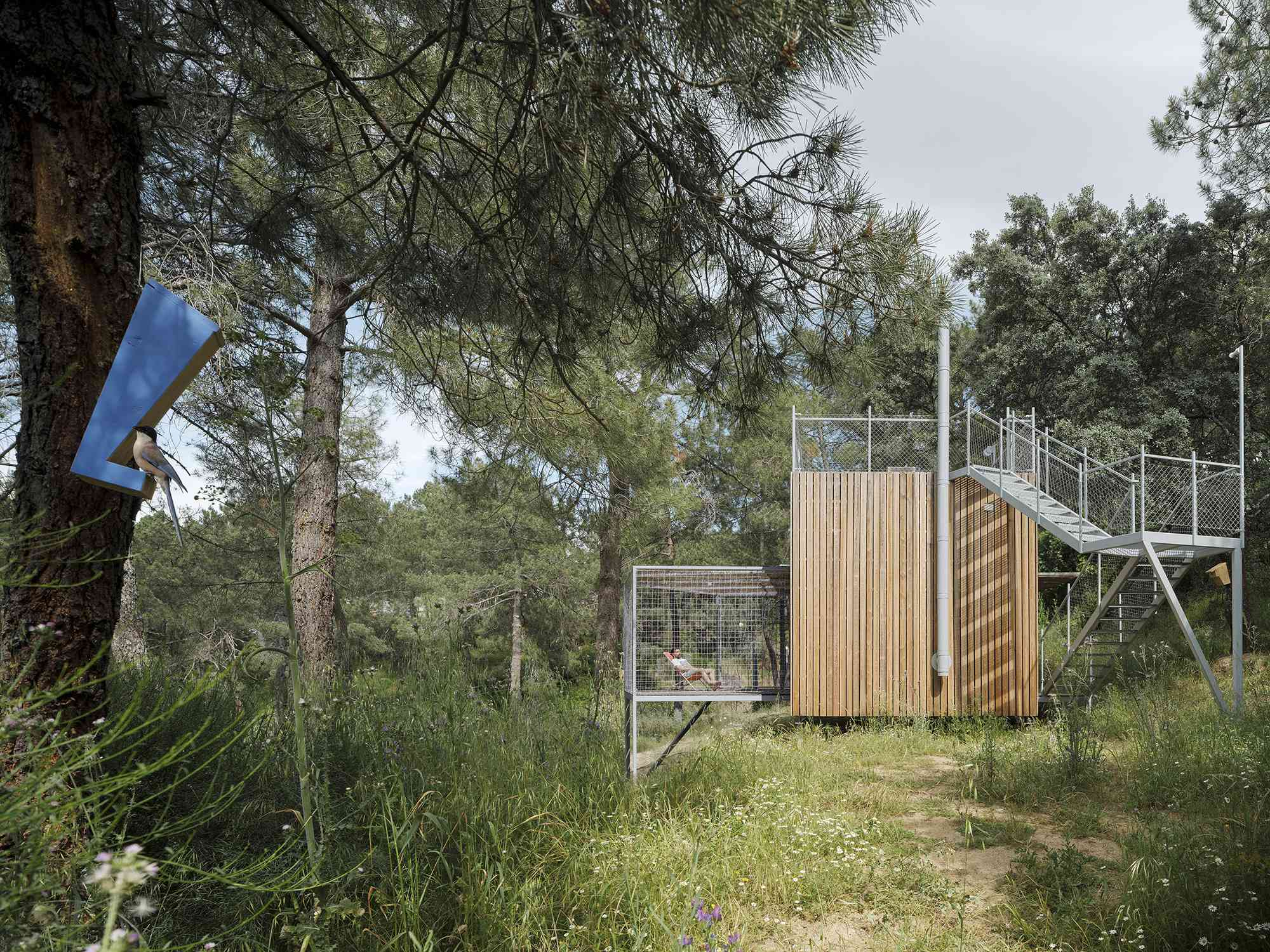 (Synanthro)Love Shack, (Tele)Working Abode by Husos Architects meshed patio