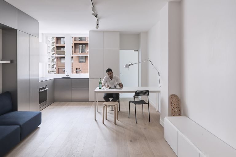 322 Sq Ft Micro Apartment Has A Transforming Function Wall