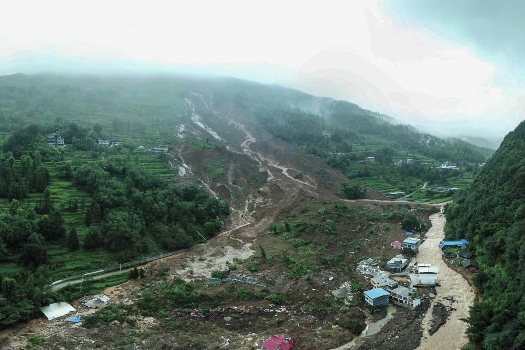 Landslide in Guizhou, China