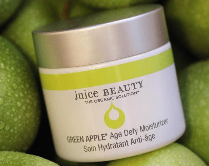 Juice Beauty green apple moisturizer on green apples