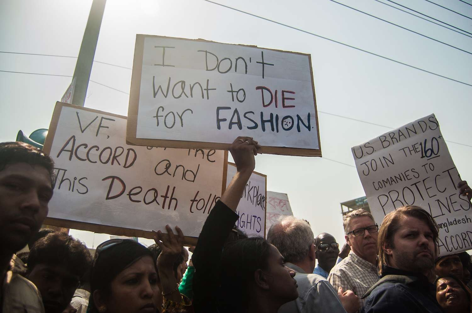 family members commemorate Rana Plaza factory collapse in 2014
