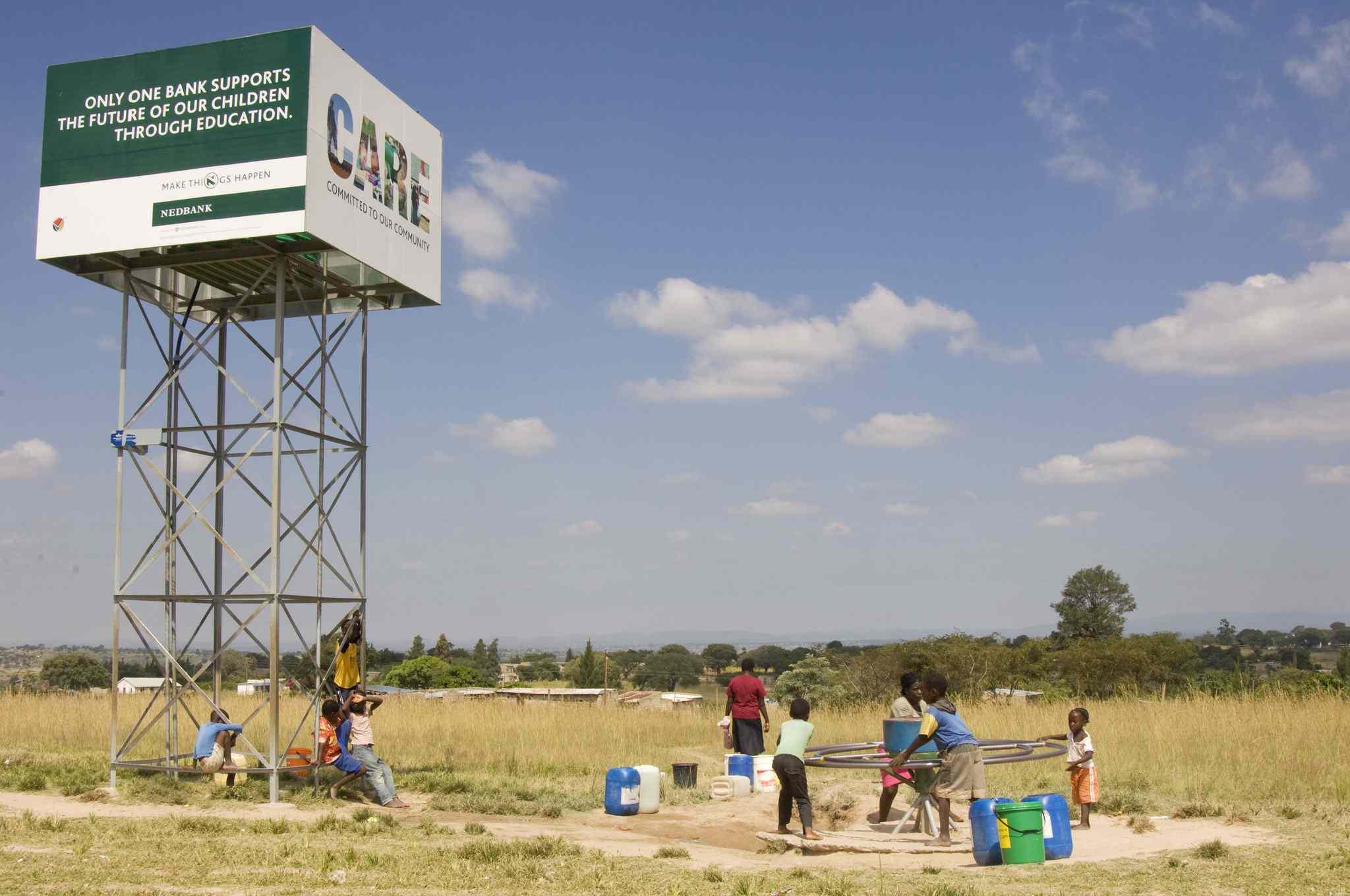 A water pump and storage tank - Acornhoek, Hoedspruit Limpopo province. south africa