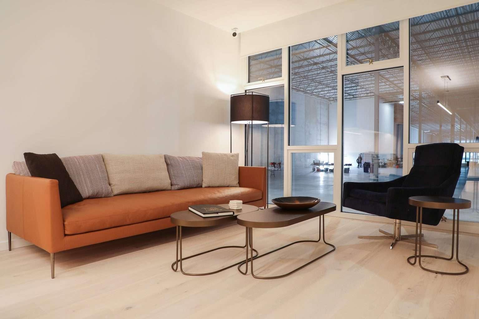 living room in modular unit
