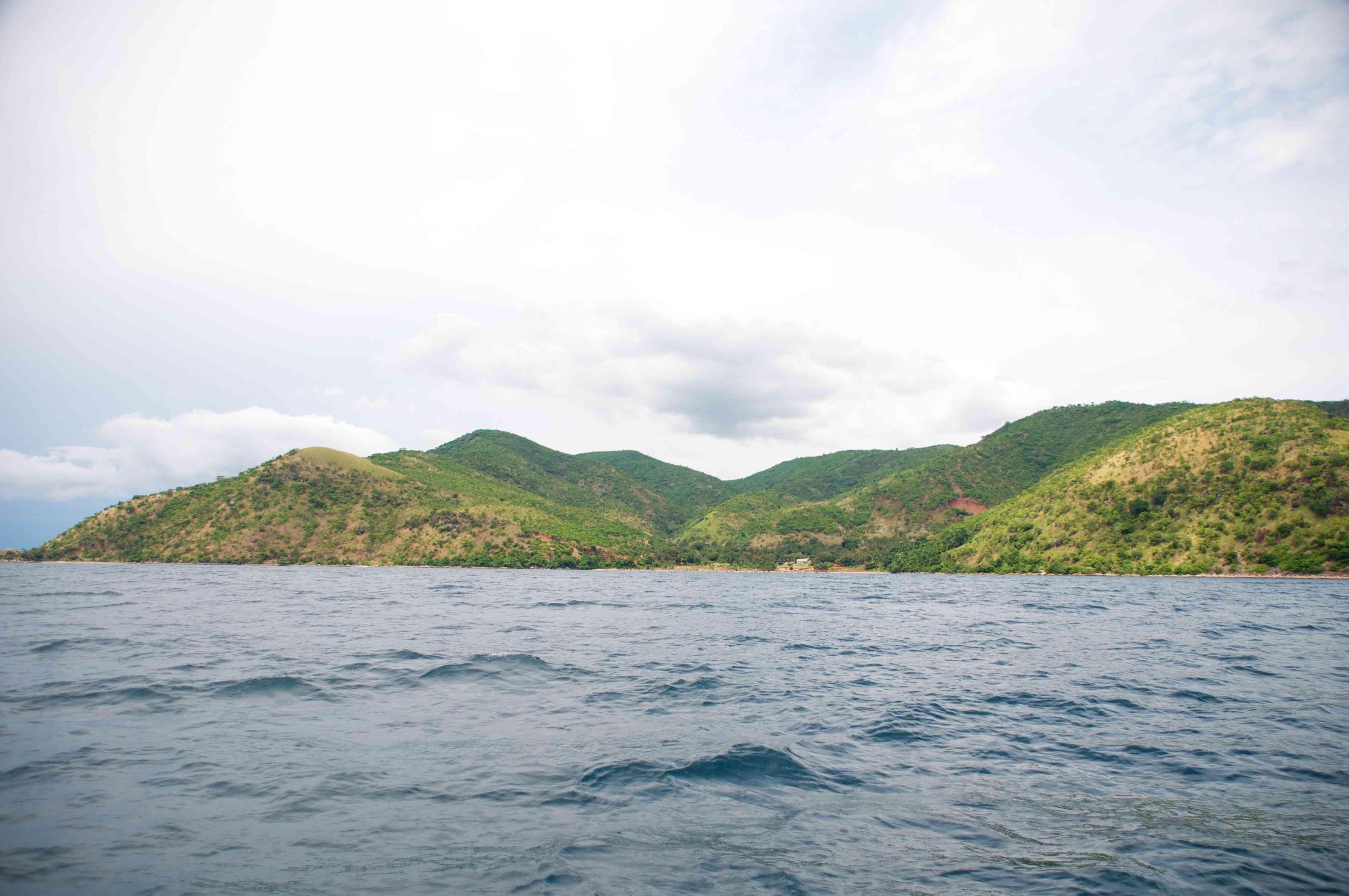 landscape of lake Tanganyika
