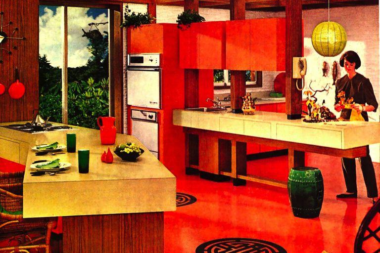 An open kitchen