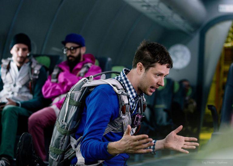 Music group OK Go practice for zero-gravity video shoot