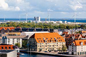 Wind turbines in Copenhagen, Denmark